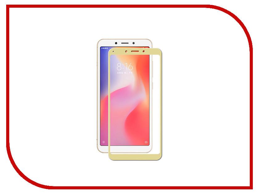 Купить Аксессуар Защитное стекло для Xiaomi Redmi 6 / 6A Zibelino TG Full Screen Gold ZTG-FS-XMI-RDM-6-GLD
