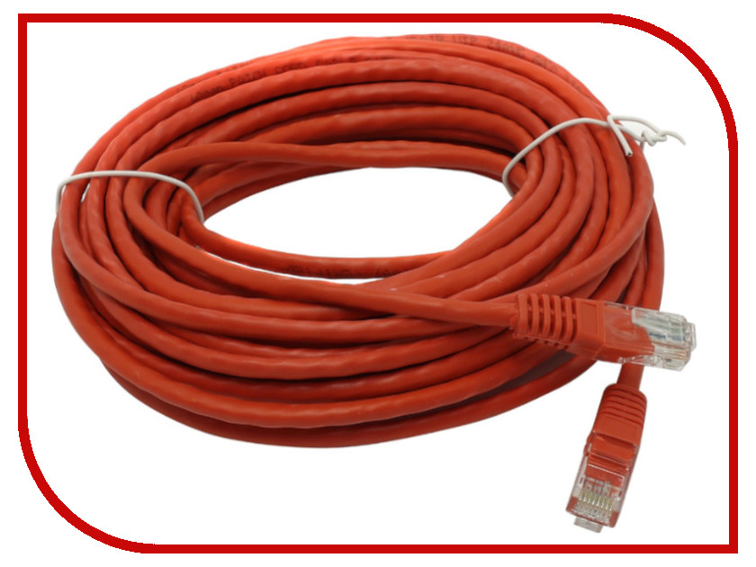 Купить Сетевой кабель Telecom UTP cat.5e 10m Red PAT-10M_R