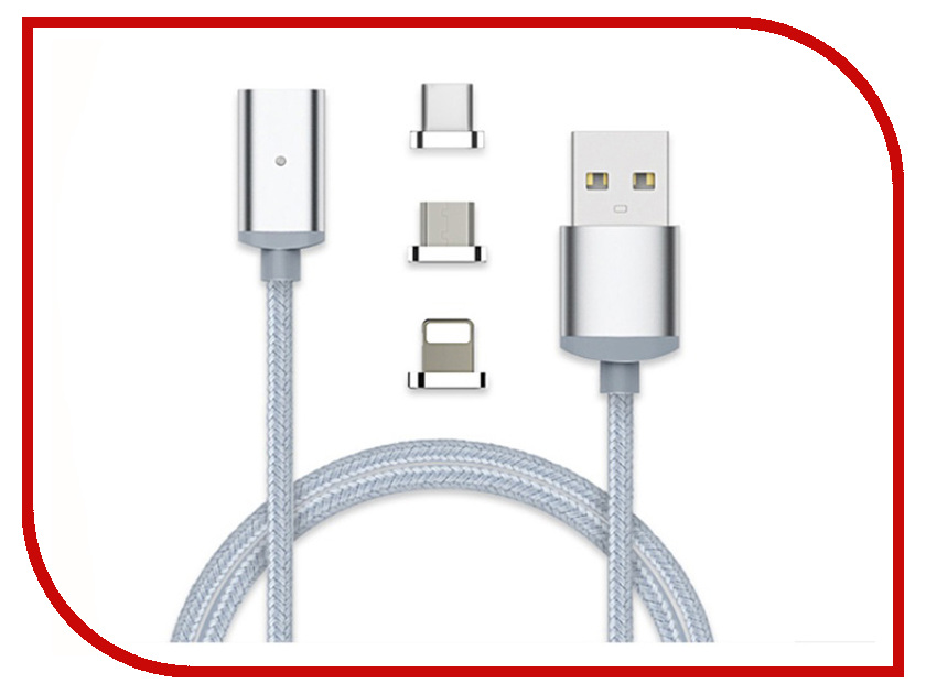 Купить Аксессуар VCOM USB 2.0 AM - Lighting + micro-B 5P + USB Type-C 1m CU283LMC