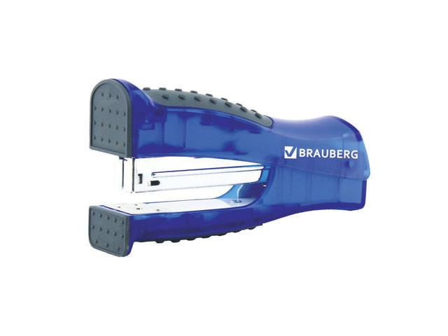 дырокол sax 306 до 20л с линейкой blue 50973 Степлер Brauberg Daten №24/6 до 20л Black-Blue 226864