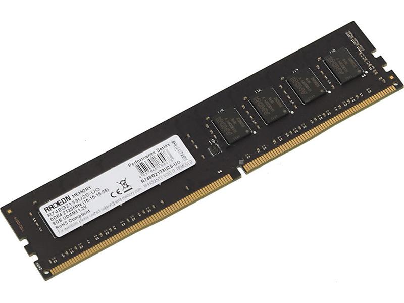 Модуль памяти AMD DDR4 DIMM 2133MHz PC4-17000 CL15 - 8Gb R748G2133U2S-UO