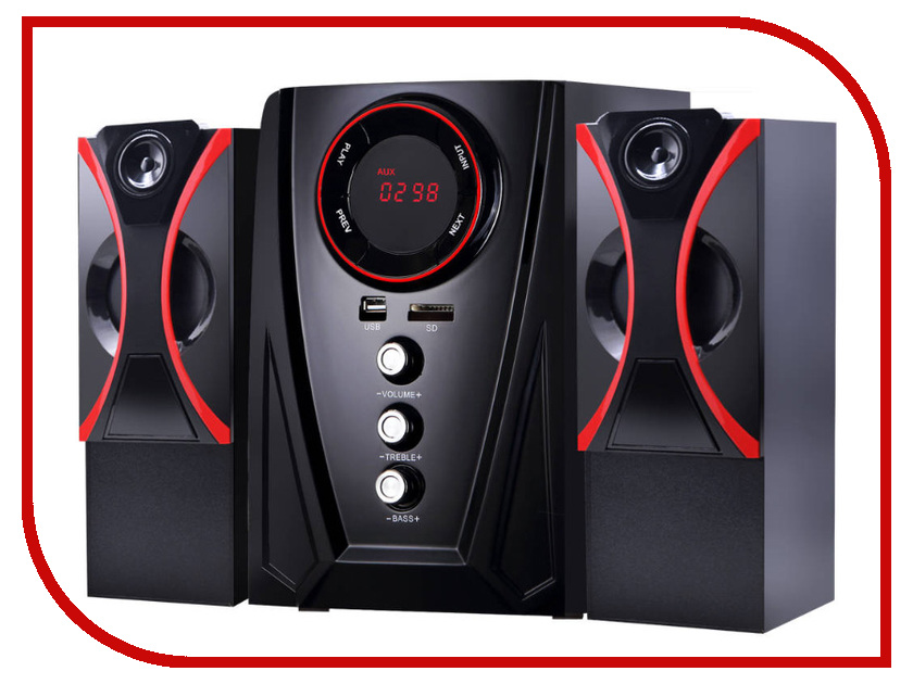 Купить Колонка Ginzzu GM-407 Black-Red