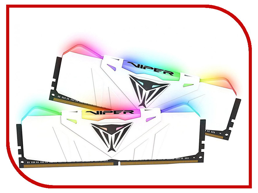 Купить Модуль памяти Patriot Memory Viper RGB DDR4 DIMM 3200MHz PC4-25600 CL16 - 16Gb KIT (2x8Gb) PVR416G320C6KW