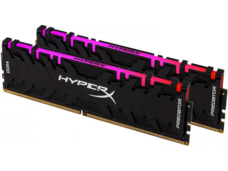 Модуль памяти HyperX Predator RGB DDR4 DIMM 2933MHz PC4-23466 CL15 - 16Gb KIT (2x8Gb) HX429C15PB3AK2/16