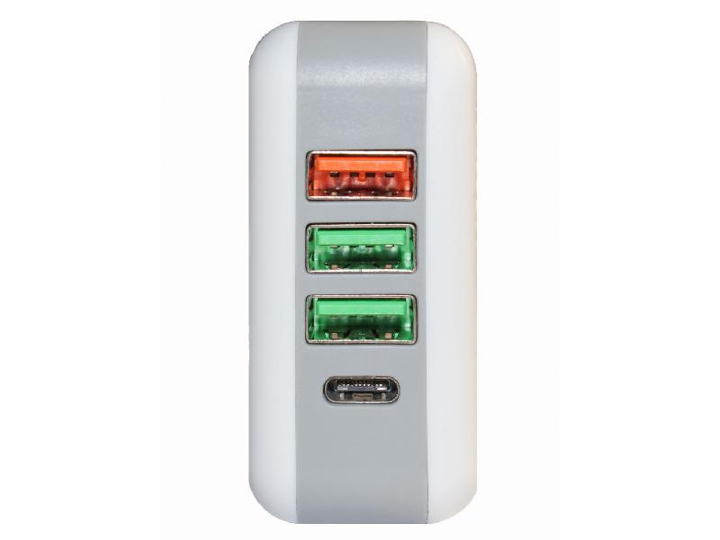 Зарядное устройство Palmexx Qualcomm Quick Charge 3.0 3xUSB+TypeC PX/PA-USB-QuickCH-4USB