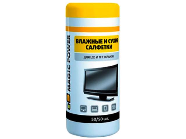 Купить Салфетка Magic Power MP-824 50+50 шт для LCD и TFT экранов