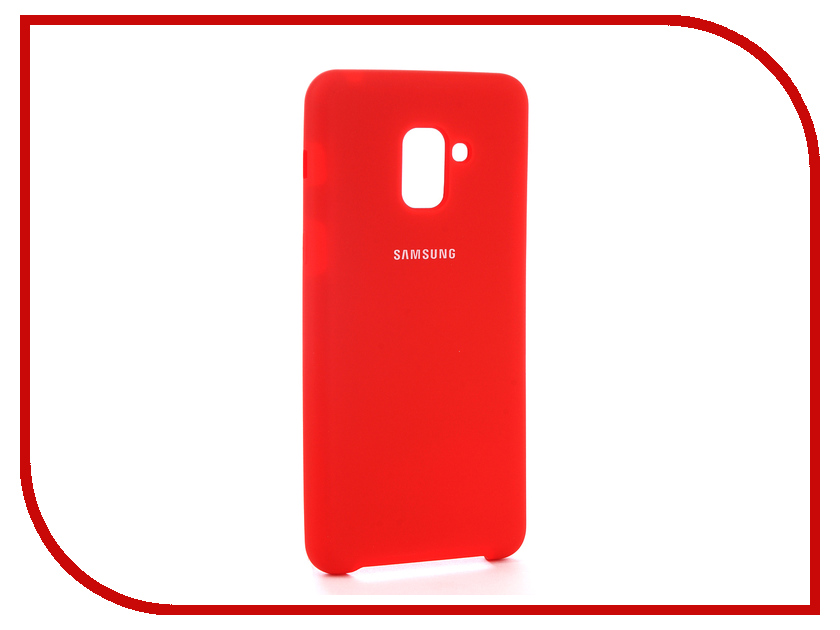 Купить Аксессуар Чехол для Samsung Galaxy A8 Plus 2018 Innovation Silicone Red 11925