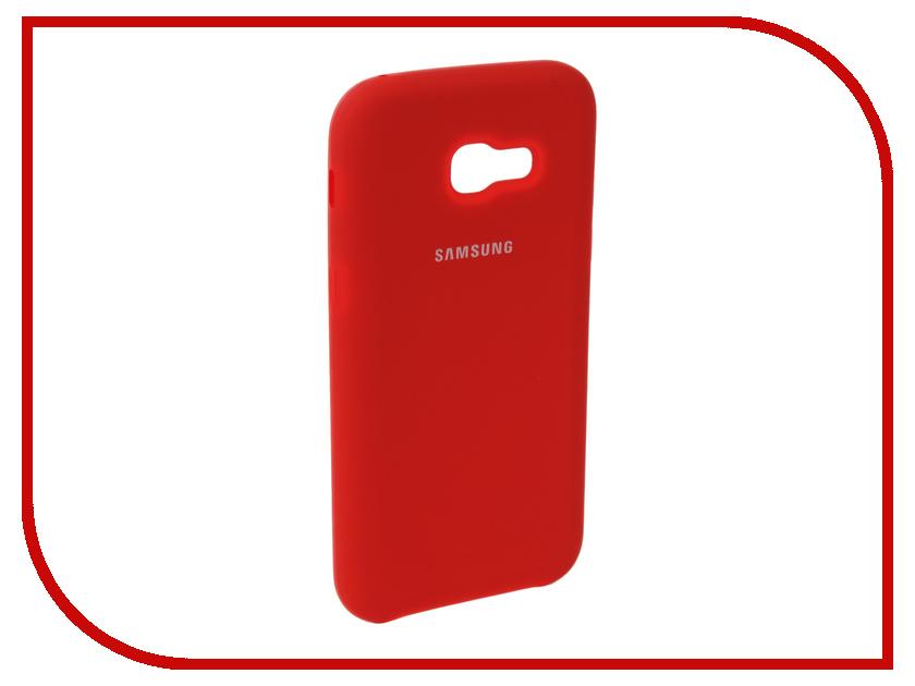 Купить Аксессуар Чехол для Samsung Galaxy A5 2017 Innovation Silicone Red 10647