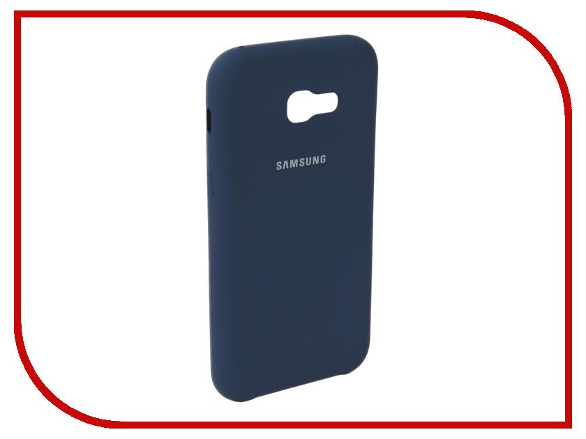 Купить Аксессуар Чехол для Samsung Galaxy A5 2017 Innovation Silicone Blue 10643