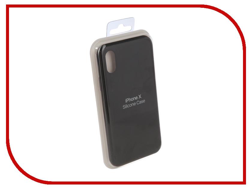 Купить Аксессуар Чехол для APPLE iPhone X Innovation Silicone Case Black 10305