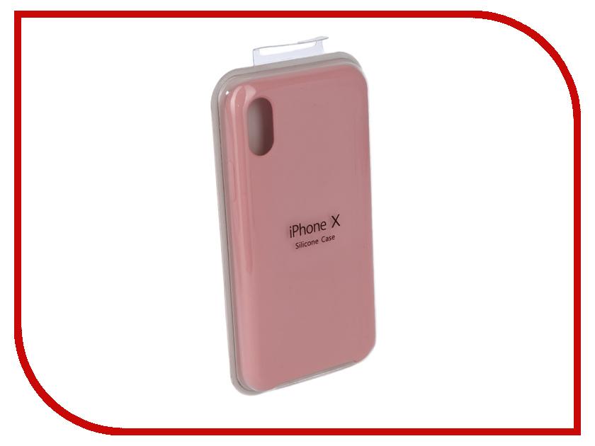 Купить Аксессуар Чехол для APPLE iPhone X Innovation Silicone Case Dark Pink 10632