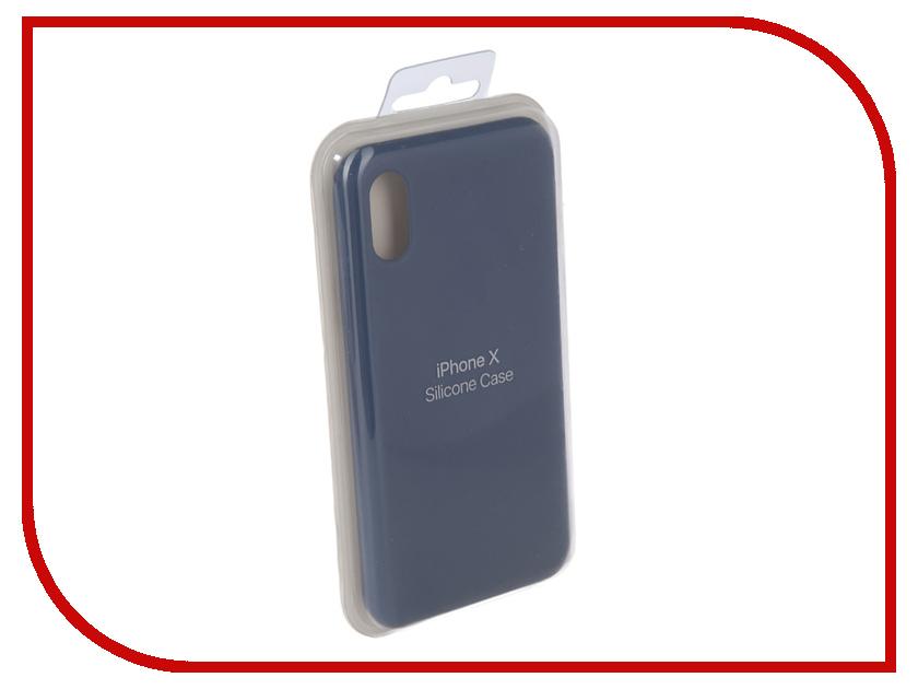 Купить Аксессуар Чехол для APPLE iPhone X Innovation Silicone Case Blue 10630