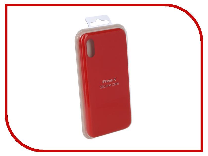 Купить Аксессуар Чехол для APPLE iPhone X Innovation Silicone Case Red 10302