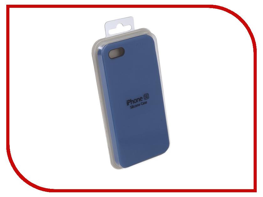 Купить Аксессуар Чехол для APPLE iPhone 5G / 5S / 5SE Innovation Silicone Case Light Blue 10612