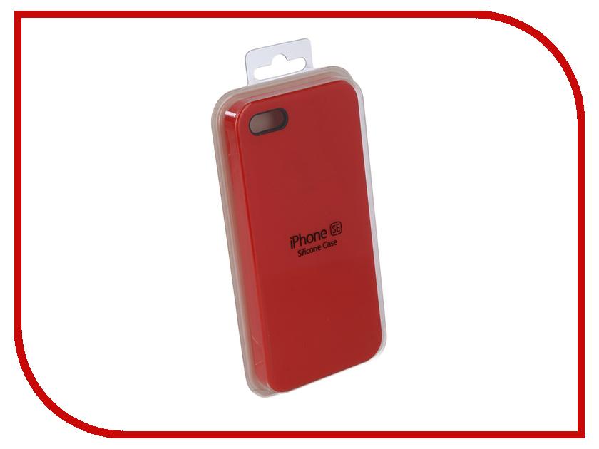 Купить Аксессуар Чехол для APPLE iPhone 5G / 5S / 5SE Innovation Silicone Case Red 10239