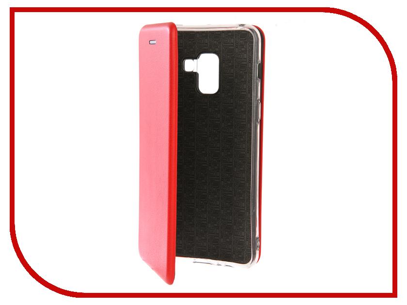Купить Аксессуар Чехол для Samsung Galaxy A8 2018 Innovation Book Silicone Red 12156