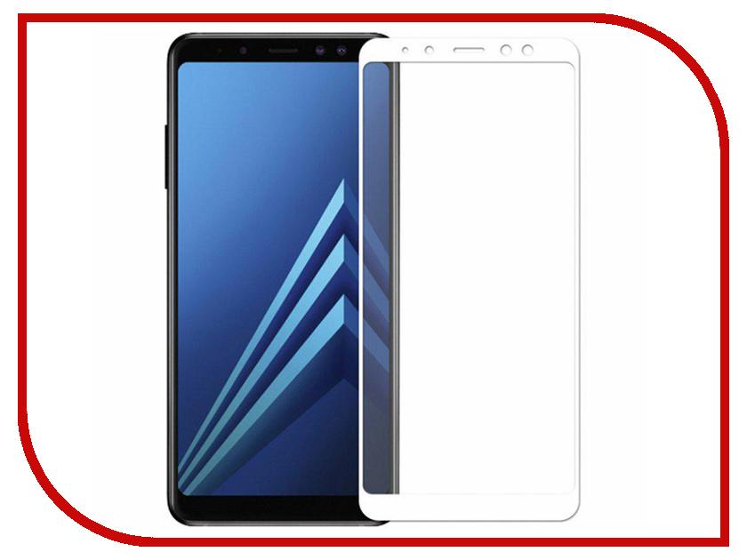 Купить Аксессуар Защитное стекло для Samsung Galaxy A7 2018 / А8 Plus Snoogy Full Glass 0.33mm White Sn-TG-FG-SA7/2018/А8plus -wht