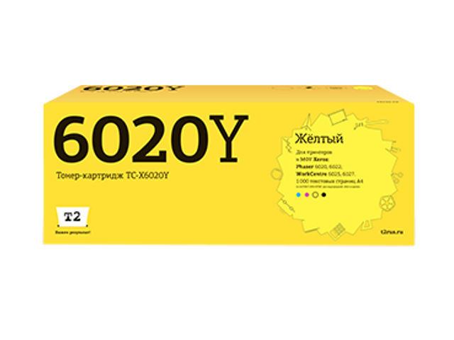 Картридж T2 TC-X6020Y Yellow