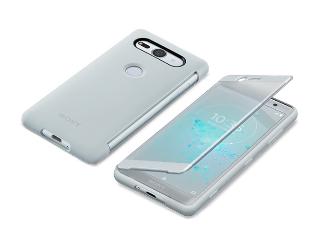 sony cyber shot hx400 купить Аксессуар Чехол Sony Xperia XZ2 Compact с окошком SCTH50 Silver
