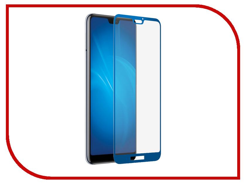 Купить Аксессуар Закаленное стекло для Huawei P20 Lite DF Full Screen 3D hwColor-63 Blue, DF-GROUP