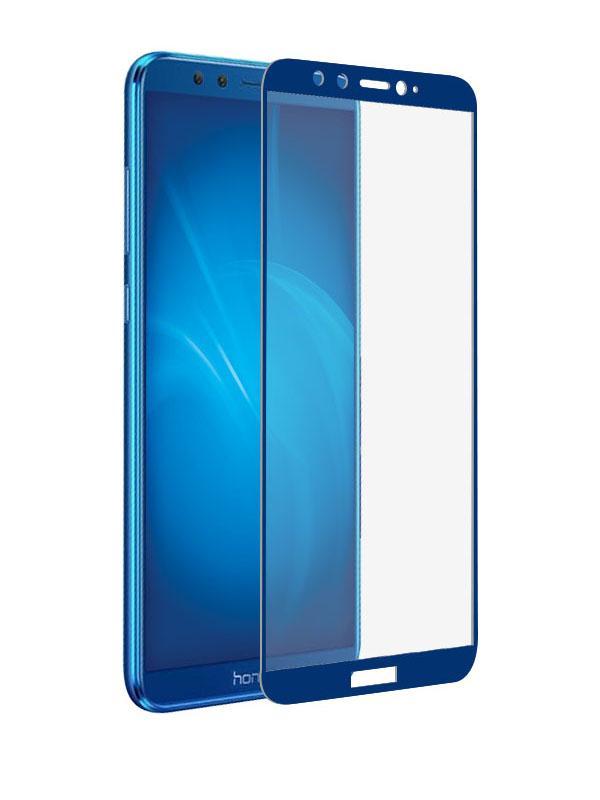 аксессуар закаленноестеклоdf дляhonor Аксессуар Закаленное стекло DF для Honor 9 Lite Full Screen hwColor-36 Blue
