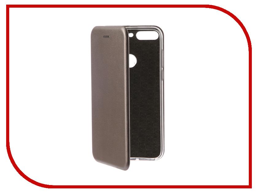 Купить Аксессуар Чехол-книга для Huawei 7C Pro Innovation Book Silicone Silver 12409