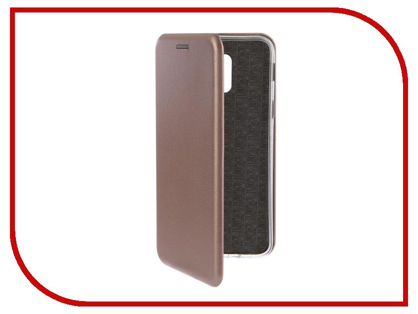 Купить Аксессуар Чехол-книга для Samsung Galaxy A6 2018 Innovation Book Silicone Rose Gold 12446