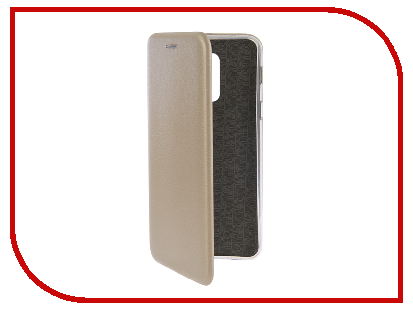 Купить Аксессуар Чехол-книга для Samsung Galaxy A6 Plus 2018 Innovation Book Silicone Gold 12450