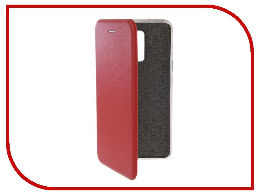 Купить Аксессуар Чехол-книга для Samsung Galaxy A6 Plus 2018 Innovation Book Silicone Red 12452
