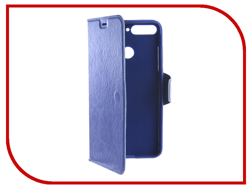 Купить Аксессуар Чехол-книжка для Huawei Y6 Y6 Prime 2018 Red Line Book Type Blue, УТ000015781