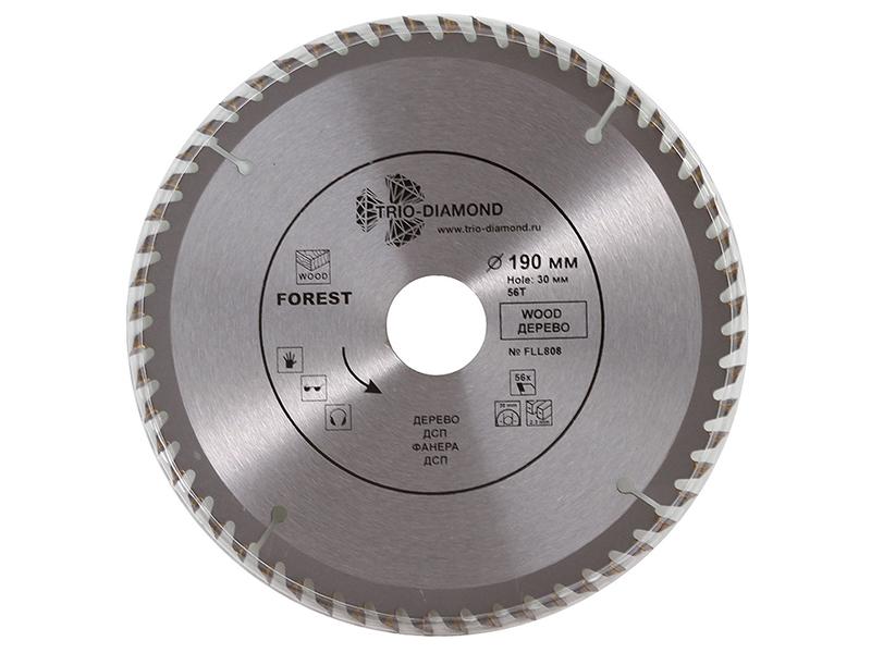 Диск Trio Diamond FLL808 пильный для дерева 190x30mm 56 зубьев