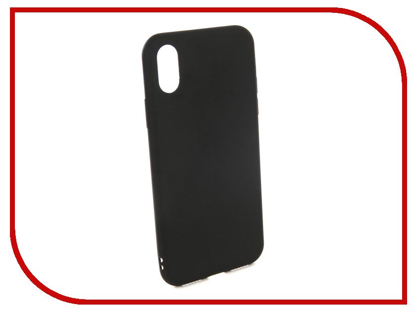 Купить Аксессуар Чехол для APPLE IPhone X EVA Silicone Black IP8A001B-X