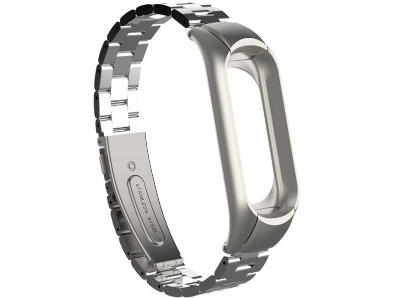 xiaomi mi band 2s Aксессуар Ремешок Apres для Xiaomi Mi Band 3 Metal Strap Silver