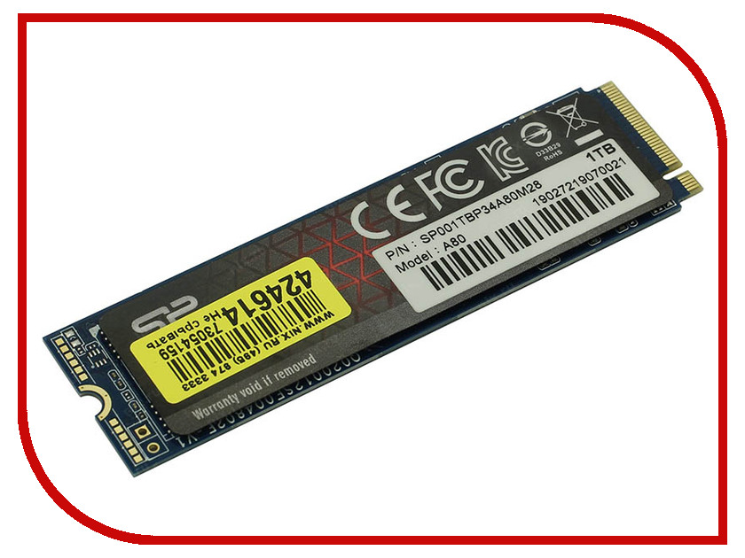 Купить Жесткий диск 1Tb - Silicon Power PCIe Gen3x4 P34A80 SP001TBP34A80M28