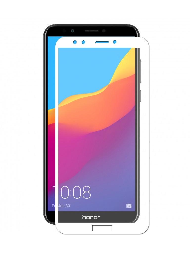 аксессуар защитное стекло neypo для honor 7c full glue glass white nfgl5398 Аксессуар Защитное стекло LuxCase для Huawei Y7 Prime / Honor 7C Pro 2.5D Full Screen Full Glue White Frame 77984
