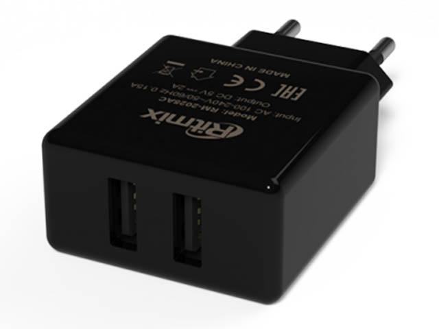 Зарядное устройство Ritmix RM-2025AC 2xUSB Black  - купить со скидкой