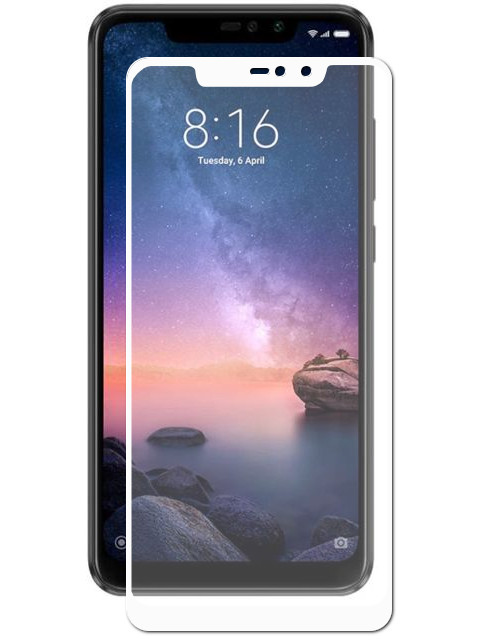 xiaomi mi5s 32gb black Аксессуар Защитное стекло LuxCase для Xiaomi Redmi Note 6 32Gb 3D White Frame 77403