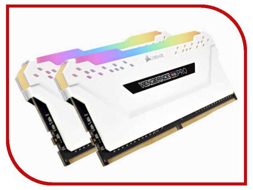 Купить Модуль памяти Corsair Vengeance RGB Pro DDR4 DIMM 3000MHz PC4-24000 CL15 - 16Gb KIT (2x8Gb) White CMW16GX4M2C3000C15W