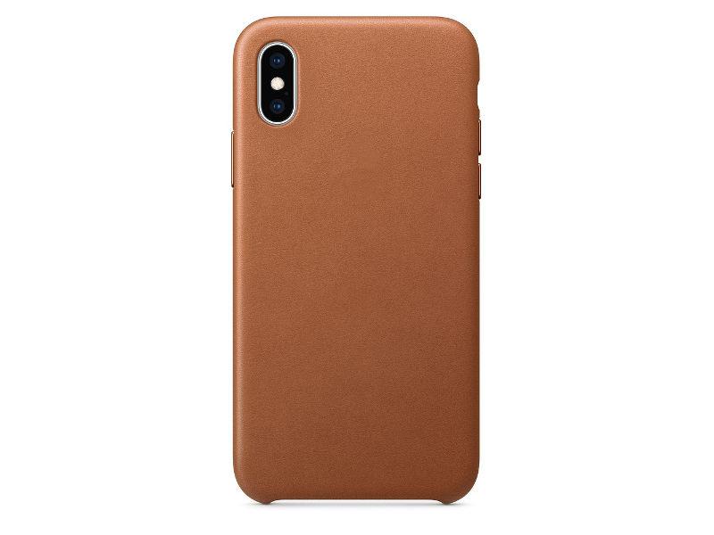Купить Аксессуар Чехол APPLE iPhone XS Leather Case Saddle Brown MRWP2ZM/A