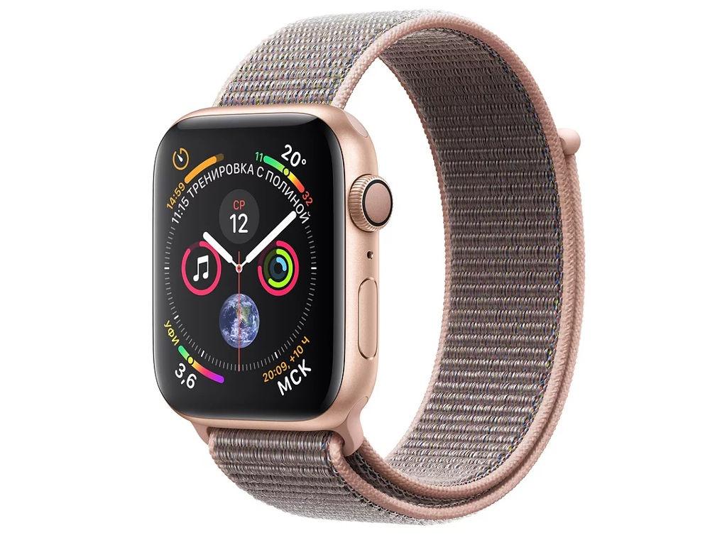 Умные часы APPLEWatch Series4 40mm Gold Aluminium Case with Pink Sand Sport Loop MU692RU/A