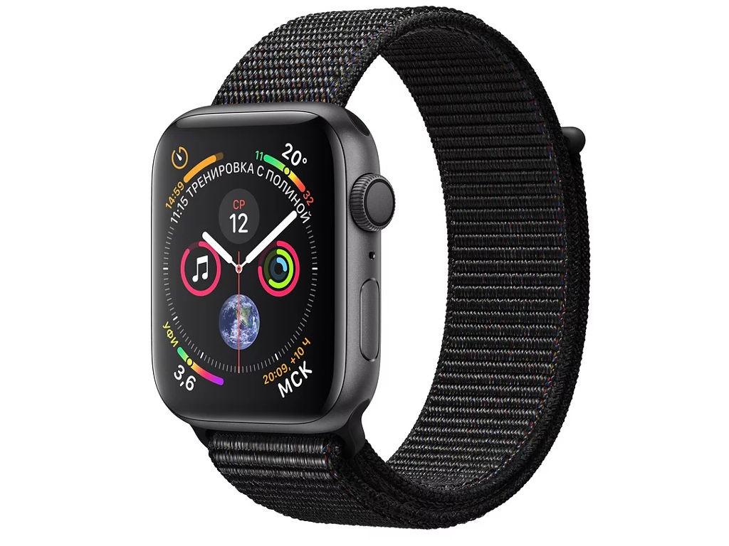 Купить Умные часы APPLEWatch Series4 44mm Space Grey Aluminium Case with Black Sport Loop MU6E2RU/A