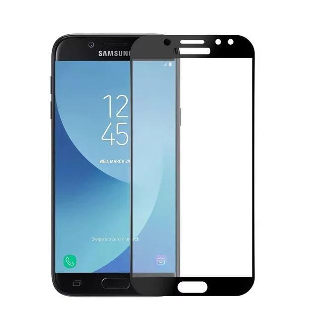 галакси j7 Аксессуар Защитное стекло для Samsung Galaxy J7 2017 Solomon 2.5D Full Cover Black 1073