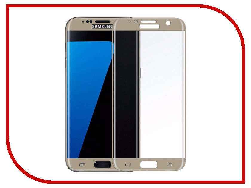 Купить Аксессуар Защитное стекло для Samsung Galaxy S7 Solomon 2.5D Full Cover Gold 7972
