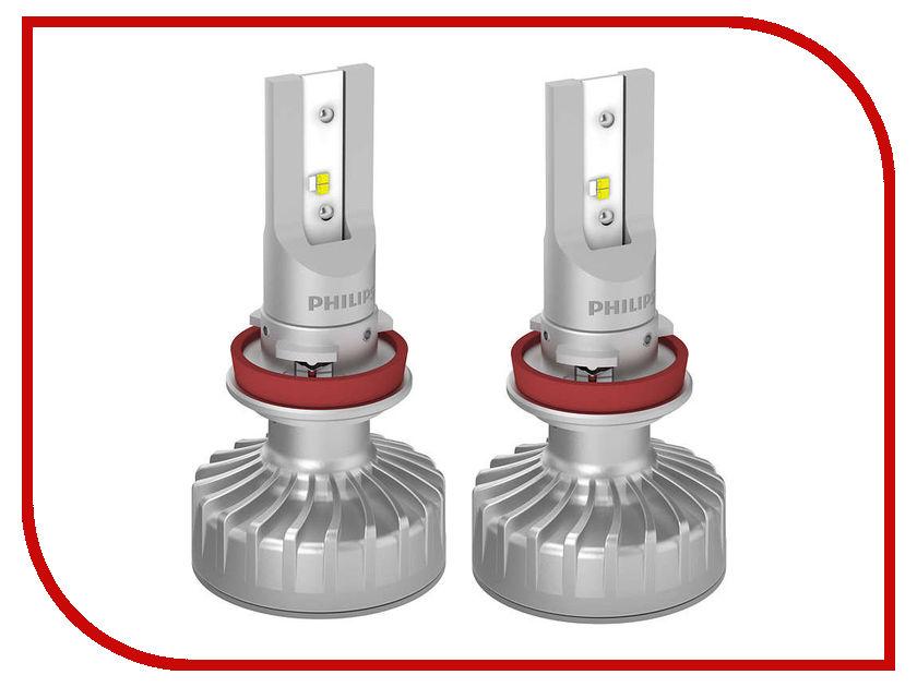 Купить Лампа Philips Ultinon LED Fog H11/H8/H16 12V PGJ19 6200K 11366ULWX2 (2 штуки)