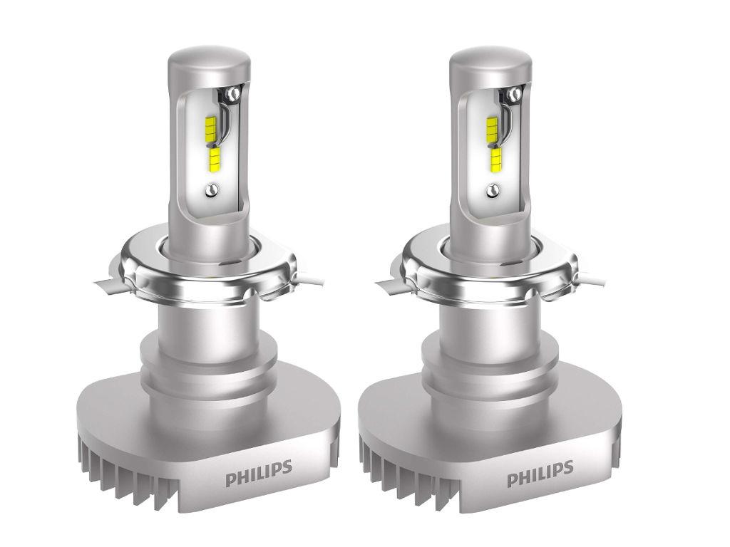 лампа philips racing vision h4 12v 60 55w p43t 150 12342rvs2 2 штуки Лампа Philips Ultinon LED H4 12V P43t-38 6200K 11342ULWX2 (2 штуки)