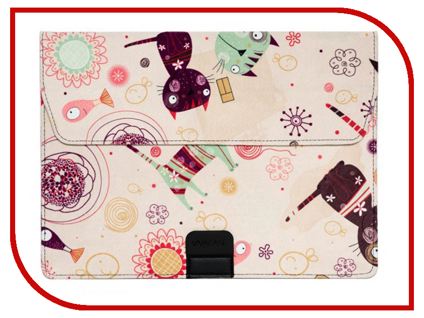 Купить Аксессуар Чехол-папка 12-13.3-inch Vivacase Kitten для MacBook Air Beige VCN-FCT15-be