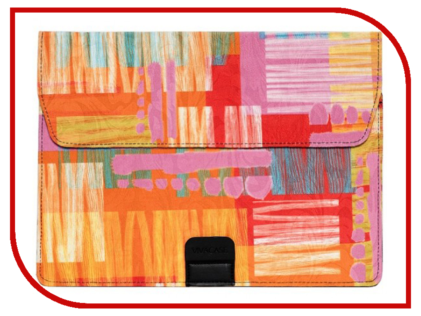 Купить Аксессуар Чехол-папка 12-13.3-inch Vivacase Harlequin для MacBook Air Orange VCN-FHC15-or
