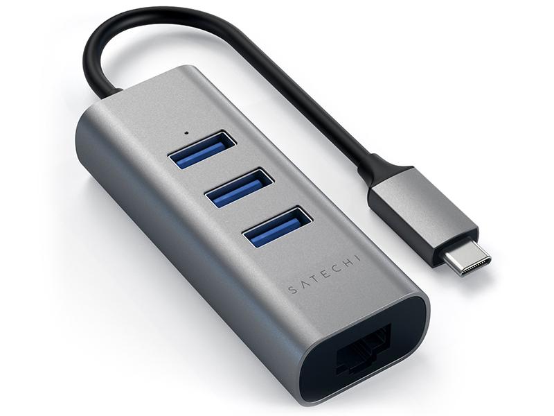 Хаб USB Satechi 3-Ports 3.0 and Ethernet port ST-TC2N1USB31AM