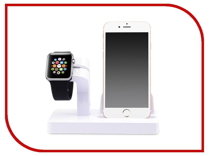 Купить Аксессуар Док-станция Gurdini Smart Apple Watch + Lightning Connector White 903285