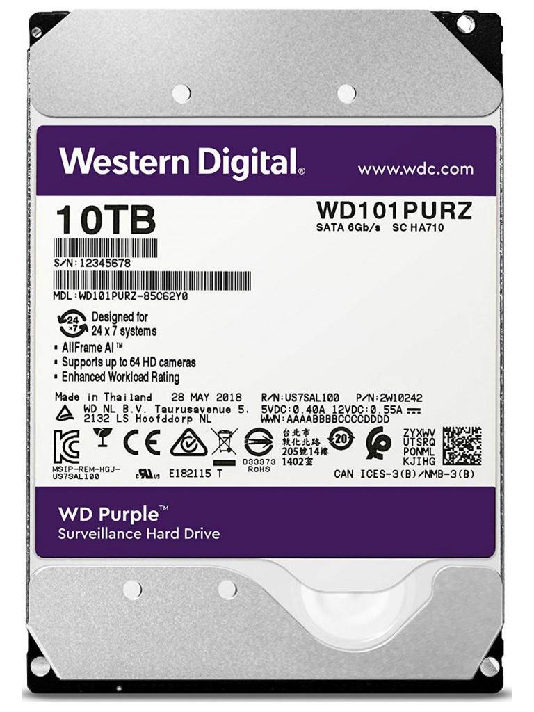 жесткий диск toshiba hdwt31auzsva 10tb Жесткий диск 10Tb - Western Digital WD Purple WD101PURZ